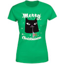 Merry Christmouse Women's T-Shirt - Kelly Green