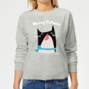 Merry Catmas Women's Sweatshirt - Grey