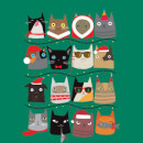 Christmas Cats Sweatshirt - Kelly Green