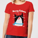 Merry Catmas Women's T-Shirt - Red