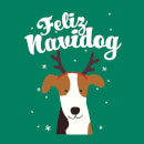 Feliz Navidog Women's T-Shirt - Kelly Green