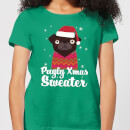 Pugly Xmas Women's T-Shirt - Kelly Green