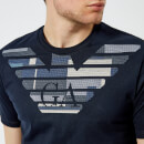 Emporio Armani Men's Embroidered T-Shirt - Blu Navy