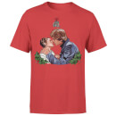 Star Wars Christmas Mistletoe Kiss Red T-Shirt