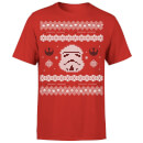 Star Wars Christmas Stormtrooper Face Knit Red T-Shirt