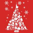 Star Wars Christmas Character Tree Red T-Shirt