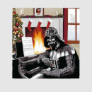 Star Wars Christmas Darth Vader Piano Player Grey T-Shirt