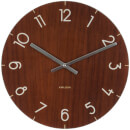 Karlsson Small Glass Wall Clock - Dark Wood