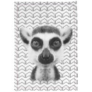 Cotton Tea Towel - Lemur