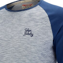 Tokyo Laundry Men's Harwood Long Sleeve Raglan Top - Medieval Blue