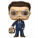 Spider-Man Homecoming Tony Stark Suit & Helmet EXC Pop! Vinyl Figure