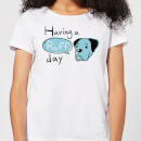 Having A Ruff Day Women's T-Shirt - White