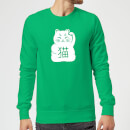 Lucky Cat Sweatshirt - Kelly Green