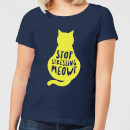 Stop Stressing Meowt Women's T-Shirt - Navy