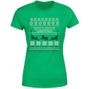 Meowy Christmas Women's T-Shirt - Kelly Green
