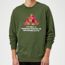 I'm Only A Morning Person Sweatshirt - Forest Green