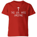 This Girl Hates Christmas Kids' T-Shirt - Red