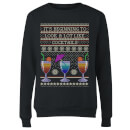 Its Beginning To Look A Lot Like Cocktails Women's Sweatshirt - Black