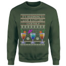 Its Beginning To Look A Lot Like Cocktails Sweatshirt - Forest Green
