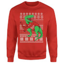T-Rex Sleeves Sweatshirt - Red