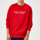 Pull de Noël Homme Make Great Again - Rouge