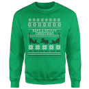 Meowy Christmas Sweatshirt - Kelly Green