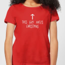 This Guy Hates Christmas Women's T-Shirt - Red