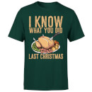 I Know What You Did Last Christmas T-Shirt - Forest Green
