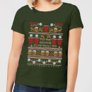 Tis The Season To Be Trollied Women's T-Shirt - Forest Green