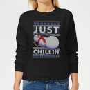 Just Chillin Women's Sweatshirt - Black