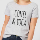 Coffee and Yoga Women's T-Shirt - Grey