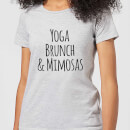 Yoga Brunch and Mimosas Women's T-Shirt - Grey