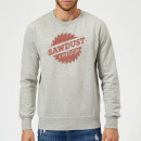 Sawdust is Man Glitter Sweatshirt - Grey
