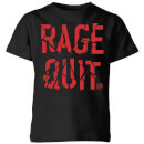 Rage Quit Kids' T-Shirt - Black