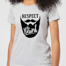 Respect the Beard Women's T-Shirt - Grey