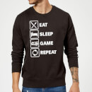 Eat Sleep Game Repeat Sweatshirt - Black