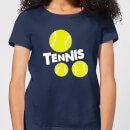 Tennis Balls Women's T-Shirt - Navy