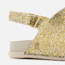 Mini Melissa Toddlers Beach Slide Sandals - Gold Glitter