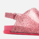 Mini Melissa Toddlers Beach Slide Sandals - Pink Glitter