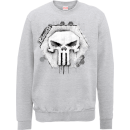 Marvel The Punisher Skull Badge Logo Trui - Grijs