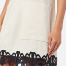 See By Chloé Women's Crepe and Ribbon Sleeveless Dress - Snow White