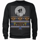 E.T Phone Home Fairisle Men's Christmas Sweatshirt - Black