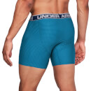 Under Armour Men's 2 Pack O-Series 6 Inch Novelty Boxerjock - Blue