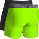Under Armour Men's 2 Pack O-Series 6 Inch Boxerjock - Grey/Yellow
