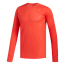 adidas Men's Supernova Long Sleeved Running Top - Red