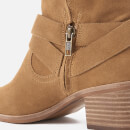UGG Women's Elora Suede Heeled Ankle Boots - Chestnut