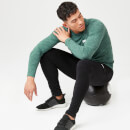Performance Long Sleeve Top - Green Marl - XS - Dark Green Marl