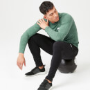 Performance Long Sleeve Top - Green Marl - S - Dark Green Marl