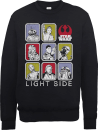 Star Wars The Last Jedi Light Side Black Sweatshirt