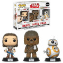 Star Wars The Last Jedi Good Guys EXC Pop! Vinyl Figure 3-Pack